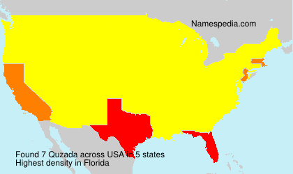 Surname Quzada in USA