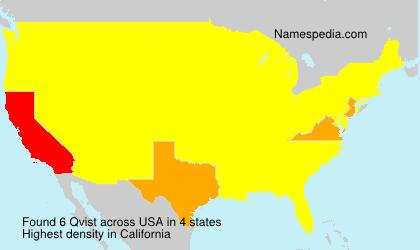 Familiennamen Qvist - USA