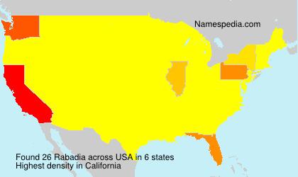 Surname Rabadia in USA