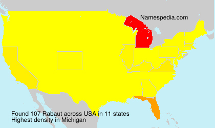 Surname Rabaut in USA