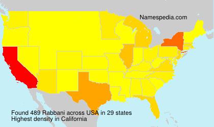 Surname Rabbani in USA
