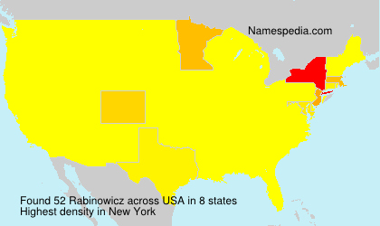 Surname Rabinowicz in USA