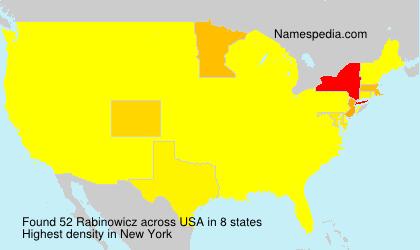 Surname Rabinowicz in USA