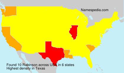 Surname Rabinson in USA