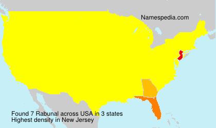 Surname Rabunal in USA