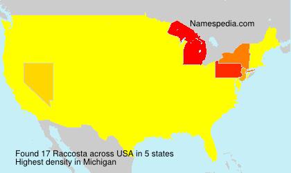 Surname Raccosta in USA