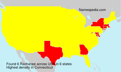 Surname Rachanee in USA