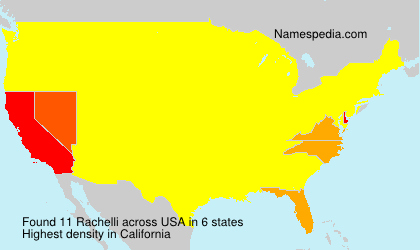 Surname Rachelli in USA