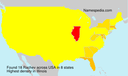 Surname Rachev in USA