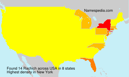 Surname Rachich in USA
