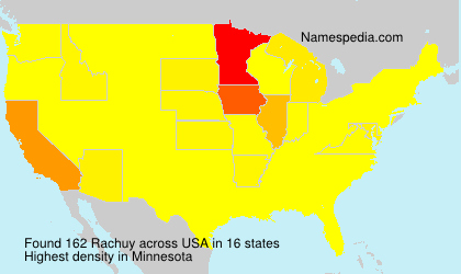 Surname Rachuy in USA