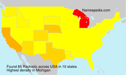 Surname Rachwitz in USA