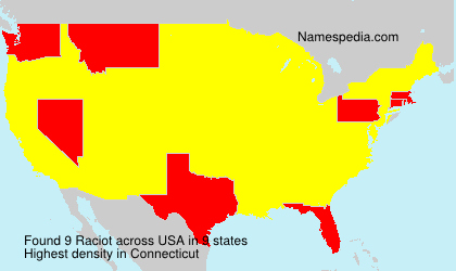 Surname Raciot in USA