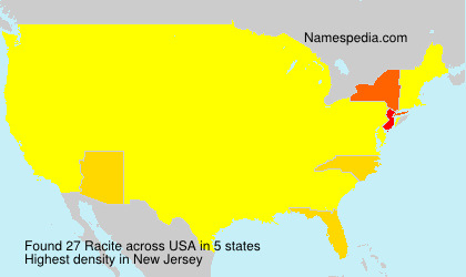 Surname Racite in USA