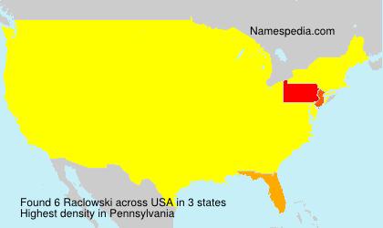 Familiennamen Raclowski - USA