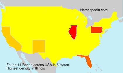 Surname Racon in USA
