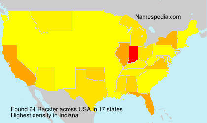 Surname Racster in USA