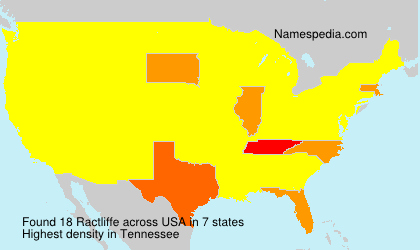 Surname Ractliffe in USA
