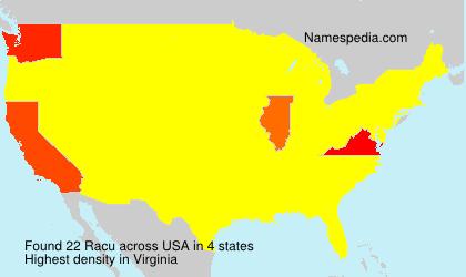 Surname Racu in USA