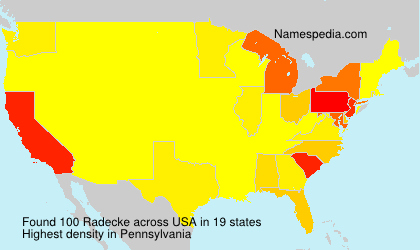 Surname Radecke in USA