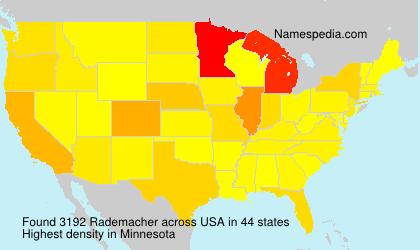 Surname Rademacher in USA