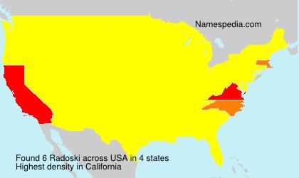 Surname Radoski in USA