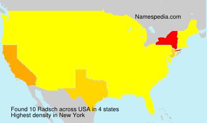 Surname Radsch in USA