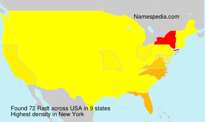 Surname Radt in USA