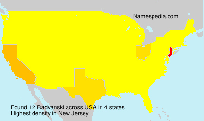 Surname Radvanski in USA