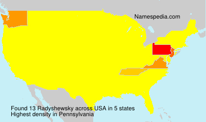 Surname Radyshewsky in USA