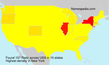 Surname Radz in USA