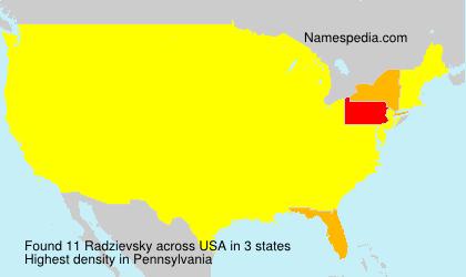 Surname Radzievsky in USA