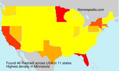 Surname Radzwill in USA