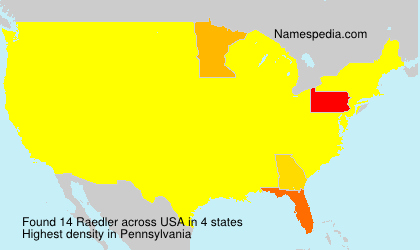 Surname Raedler in USA