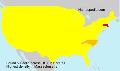 Surname Raelin in USA