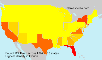Surname Raez in USA