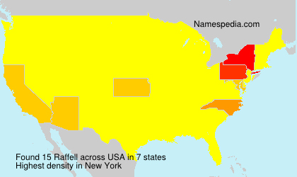 Surname Raffell in USA