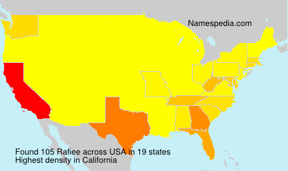 Surname Rafiee in USA