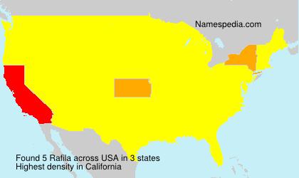 Surname Rafila in USA