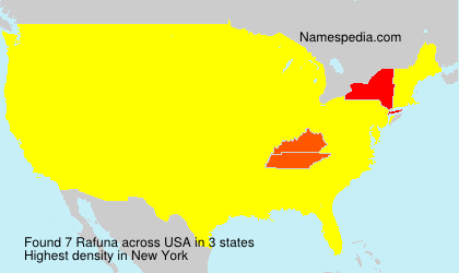 Surname Rafuna in USA