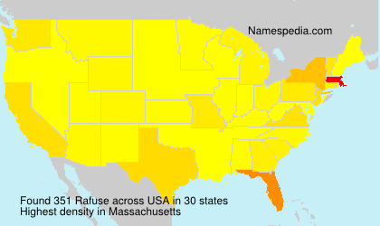 Surname Rafuse in USA