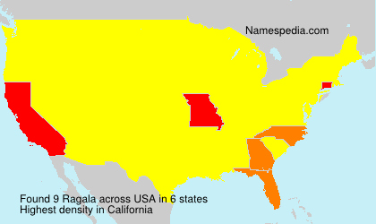 Surname Ragala in USA