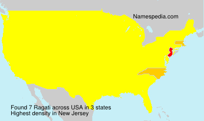 Surname Ragati in USA