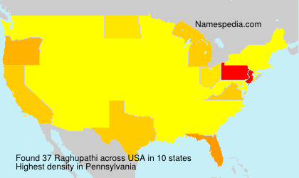 Familiennamen Raghupathi - USA