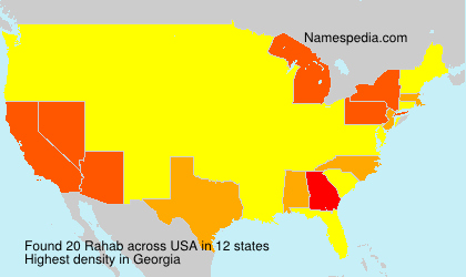 Surname Rahab in USA