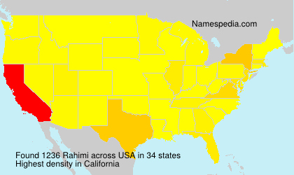Surname Rahimi in USA