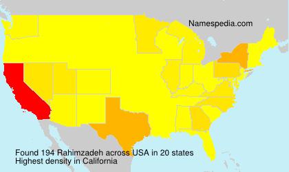 Familiennamen Rahimzadeh - USA