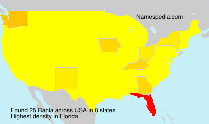 Familiennamen Rahla - USA