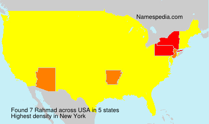Surname Rahmad in USA