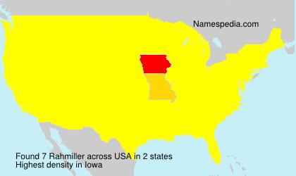 Surname Rahmiller in USA